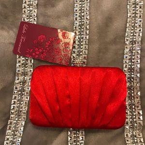 LuLu Townsend Red Clutch